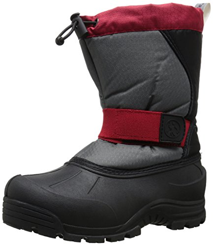 Northside Zephyr Cold Weather Boot , Gray/Red, 8 M US Toddle