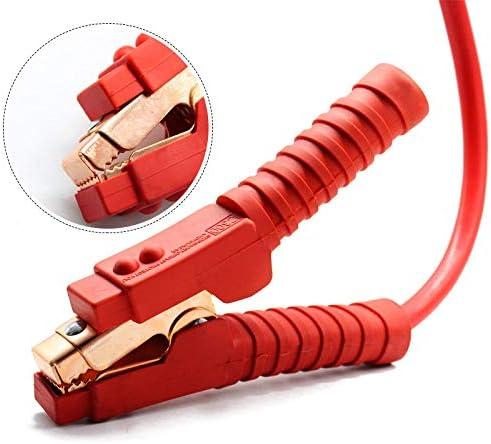 12 voltios wolketon Juego de Cables de Arranque de Salto de 2x4 m para bater/ía de autom/óvil 24 voltios con protecci/ón contra sobretensiones autom/óvil y cami/ón