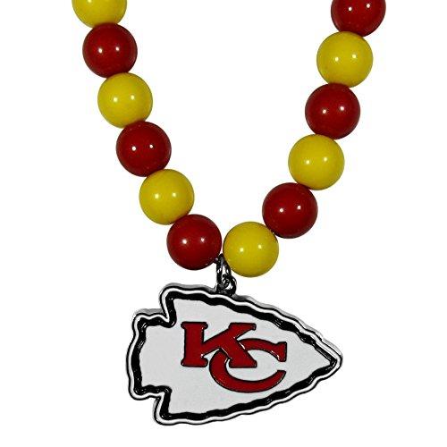 NFL Kansas City Chiefs Fan Bead Necklace, 24″