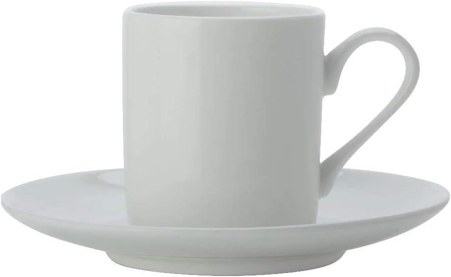 Maxwell & Williams Cashmere Espresso Cup and Saucer Set, Fine Bone China, White, 100 ml
