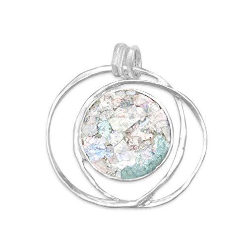 (Crown Jewelry Open Wire Design Ancient Roman Glass Pendant)
