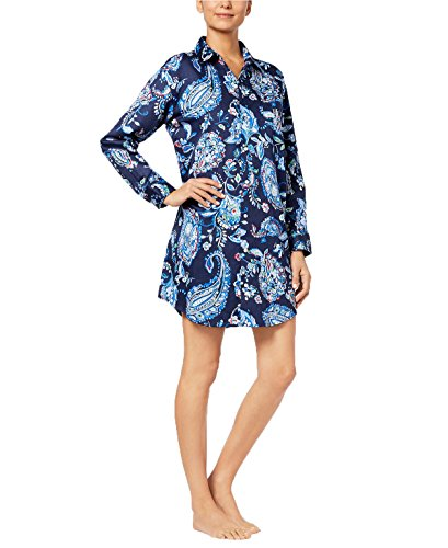 - Lauren Ralph Lauren Women's Paisley-Print Sateen Sleepshirt (Multi Paisley, Medium)