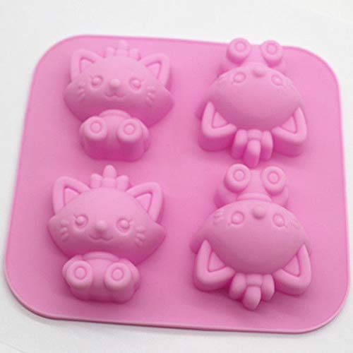 Wolf Cake Soap Mold Silicone bakeware Mould For Ice tray lattice pudding