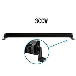 Nilight 300W 52Inch LED Work Light Bar Combo Fog Car Driving Lamp ATV Off-Road Headlight,2 years Warranty