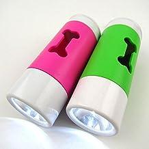 LPET 2Packs LED Flashlight Dog Waste Bag Dispenser Holder with Pet Waste Bag Poop Roll Bags by LPET
