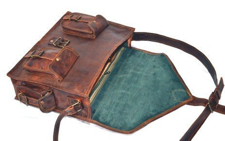 VarunHandicraft , Borsa Messenger  marrone brown