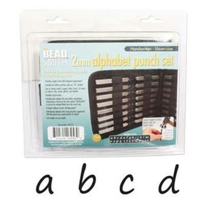 Lowercase Letter Beads (Alphabet Punch Set W/Case 27/Pkg-Handwritten 2mm Lowercase Letters)