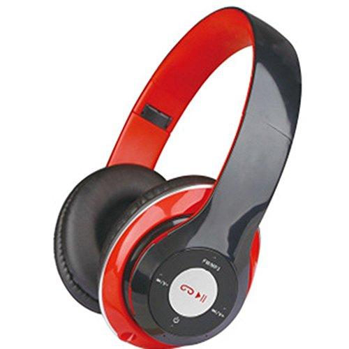 XHKCYOEJ Headset Stereo Headset/Headphones/Headphones/Wire Control/Music/Games,Gules: Amazon.co.uk: Electronics
