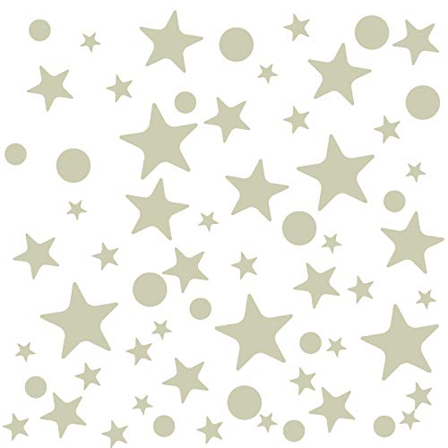 Naler Glow in Dark Star/Dot Stickers, 442pcs Luminous Wall Stickers Decals DIY Kids/Babies Bedroom, Celing, Home, Party Decoration