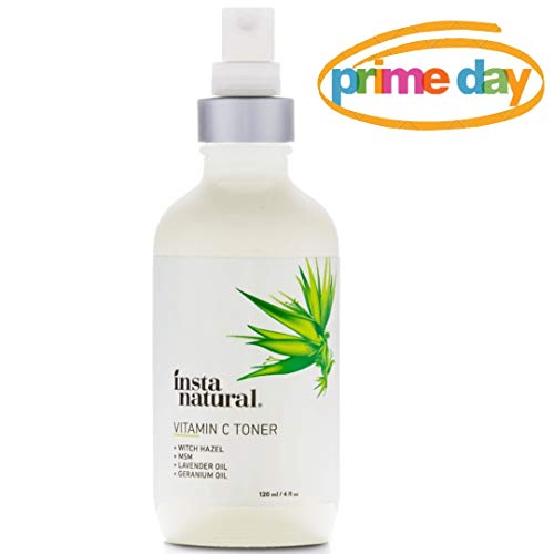 InstaNatural Vitamin C Facial Toner - Anti Aging Face Spray with Witch Hazel - Pore Minimizer & Calming Skin Treatment for Sensitive, Dry & Combination Types - Prep for Serums & Moisturizers - 4 oz Anti Aging Calming Serum