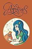 Aquarius: Horoscope Theme Journal Zodiac Simple Lined for Women Girls Teens Preteens