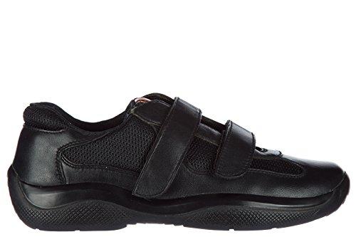Prada scarpe sneakers donna in pelle nuove nevada bike nero