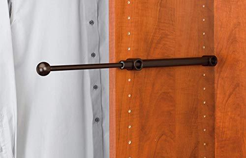 Closet Valet Rod - Extendable - Wall Hanger - Closet Hooks - 12 in. Oil Rubbed Bronze Pull-Out Designer Valet Rod 2 Pack ()