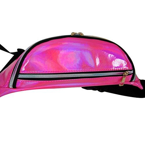 Bum Pack Women's AiSi Fanny Pink Festivals Bag Purse Hologram PVC Waist Raves d6gYqYfw