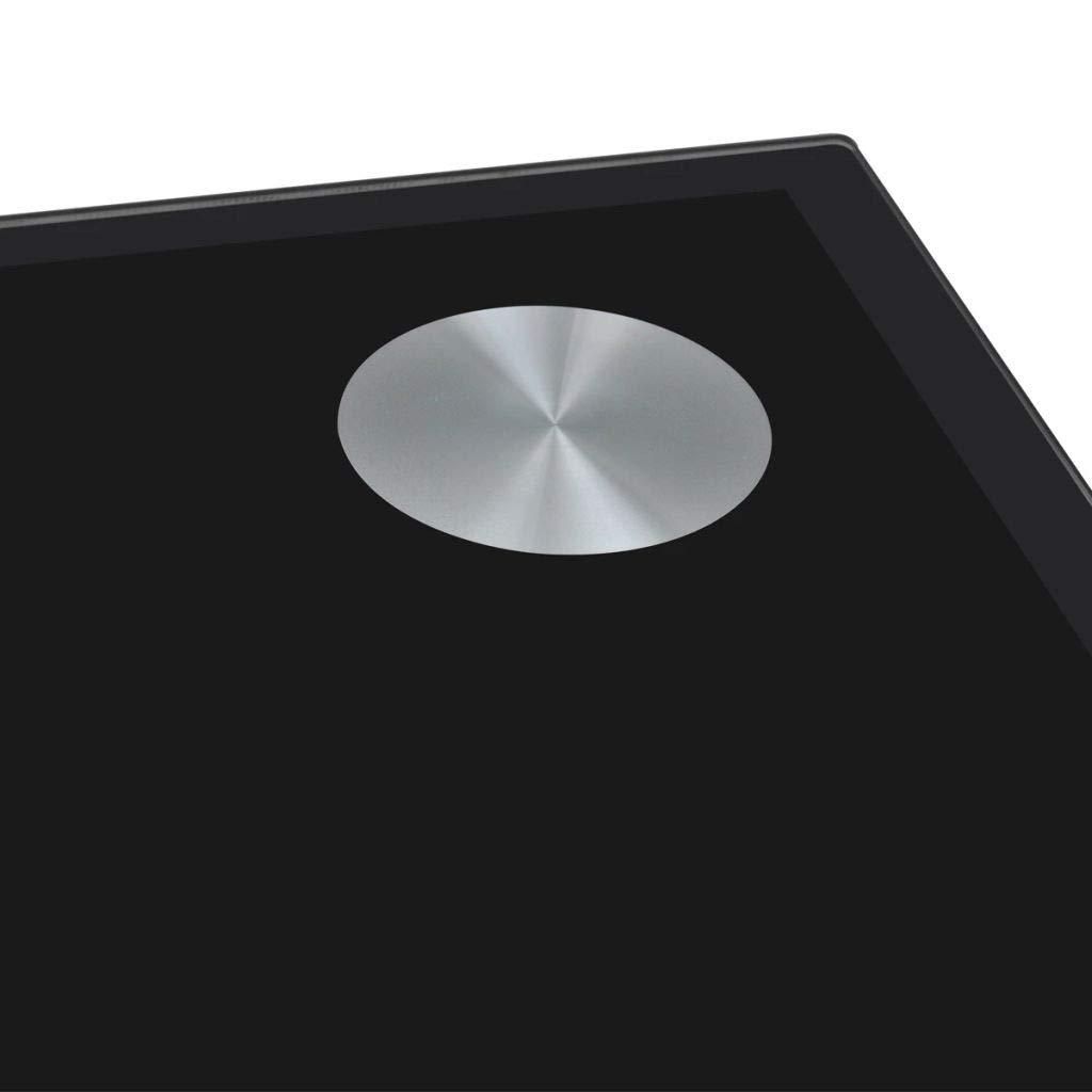 vidaXL Tavolo da Pranzo con Piano Superiore in Vetro Nero