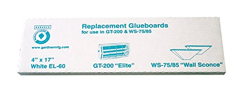 - Gardner Wall Sconce WS85 Fly Insect Replacement Glue Boards EL-60 - 1 Pack of 10