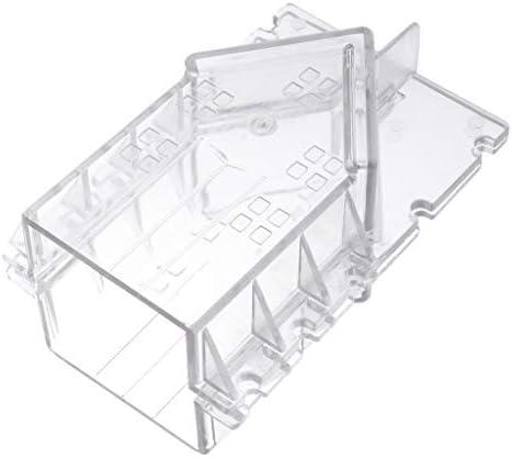 freneci 明確なプラスチック製の家の形のキャンドル金型石鹸金型DIY工芸品ジュエリー作成ツール - 5.6x5x11.6C