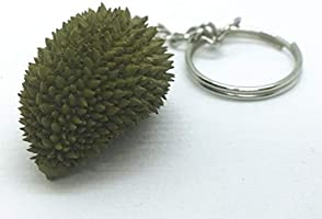 Durian Real Nature Key Chain Ring Food Thai Doll house Local Cuisine Miniature
