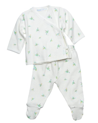 UNDER THE NILE APPAREL Unisex-baby Newborn Side Snap Layette Origami Set