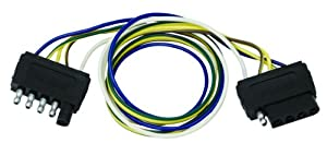 com wesbar double ended wire harness extension  wesbar 707255 double ended wire harness extension 5 way 2 feet