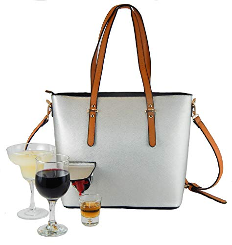 - Loving Liquid Line - Fashionable Wine Purse, hidden spout, insulated compartment & wine bota insert, fun party or gift idea. Unique Ladies Bag, holds a bottle+ of wine or other beverage. Women's tote.