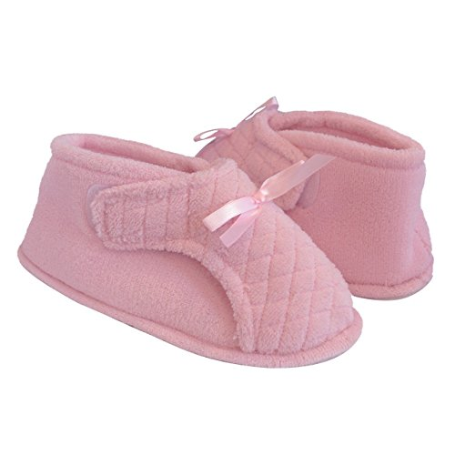 XL Light Womens Pink Slipper Adjustable Bootie 8rI8wqtY