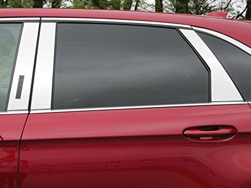 EDGE 2015-2018 FORD (6 Pc: Stainless Steel Pillar Post Trim Kit w/ keyless entry, 4-door, SUV) PP55611:QAA - Edge Pillar