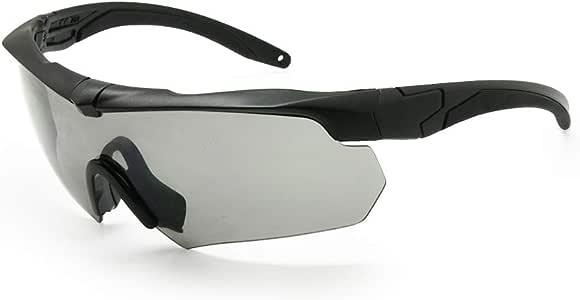 EnzoDate Balística militar gafas 3LS, 4LS o 5LS kit, gafas de sol del ejército polarizado de los hombres Eyeshield táctico (negro, 3 lentes): Amazon.es: Deportes y aire libre