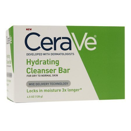 Cerave Hydrating Cleanser Bar For Dry to Normal Skin, 4.5 Oz Pack of 5