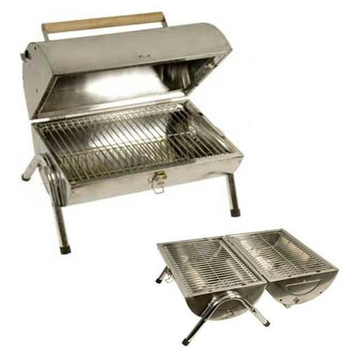 Grants Stainless Steel Barrel Portable Charcoal BBQ Barbecue