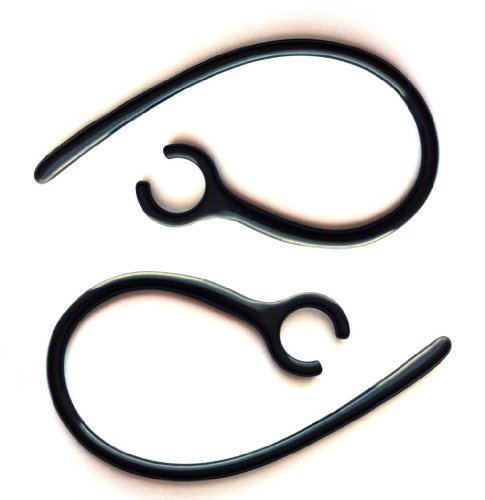 (2 New Long Black Earhooks Compatible with Jawbone Era and Prime Wireless Headset Prime 2 Candy Earcandy Era Shadowbox Smokescreen Midnight Silver Lining Ear Hook Loop Clip)