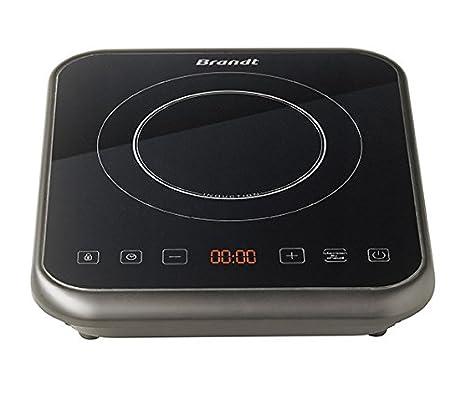 Brandt TI1FSOFT Placa de inducción portátil, 2000 W, Vidrio ...