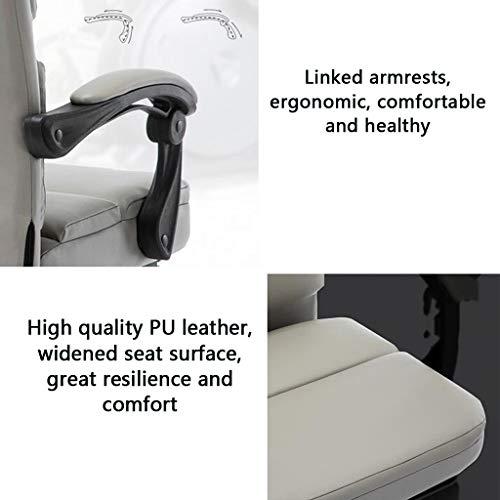 Skrivbordsstolar datorstol hem spelstol mode E-sportstol vilande kontorsstol svängbar stol lyftbord chef stol vilstol stol (färg: blå)