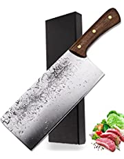 BLADESMITH Handmade Meat Cleaver Heavy Duty Butcher Knife for Meat/Small Bones/Vegetable/Fruit with Full Tang Ergonomic Handle