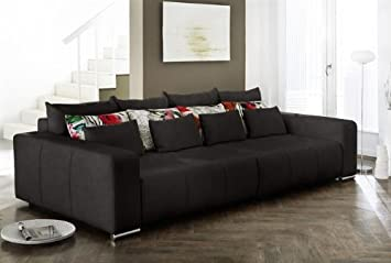 Kasper Wohndesign Cosmos Big Sofa Alcatop Schwarz Amazon De