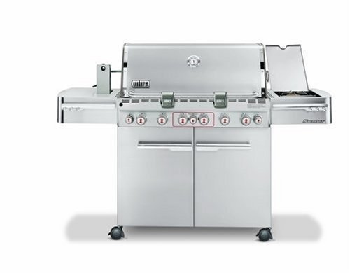 Weber 2780301 Summit S-670 Propane Tuck-Away Rotisserie Grill, Stainless Steel