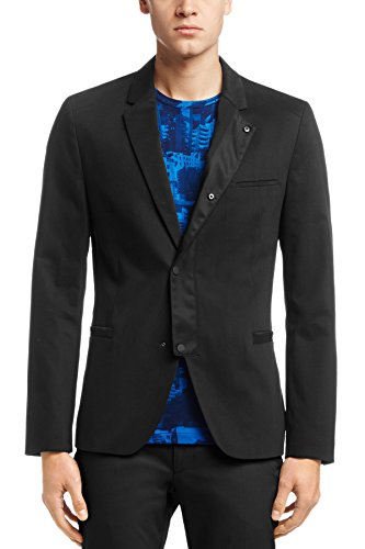 hot sell HUGO BOSS Ardeo Slim Fit Black Cotton Snaps Front Blazer 44 Regular 44R for sale