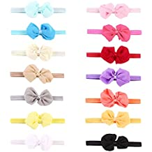JUNERAIN Baby Headbands Girls Turban Knotted For Teens/Toddler and Childrens(14 Piece)