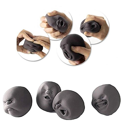 Human Face Emotion Stress Ball Toy Squeeze : Fidget Toy