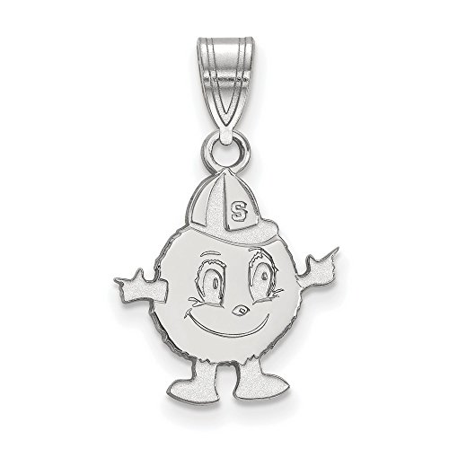 Syracuse University Orange Medium Pendant in Sterling Silver 1.39 gr by Jewelry Stores Network