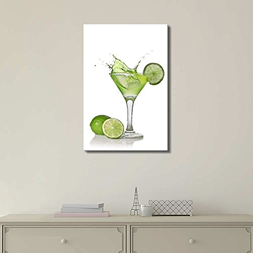 Martini With Lime Wall Decor Ation