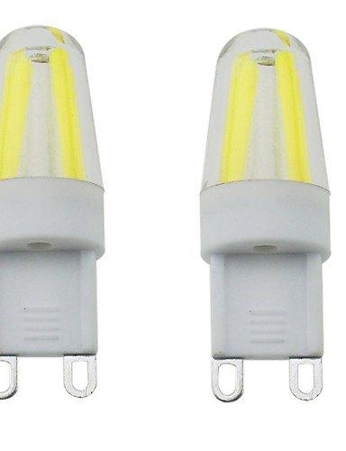 LPZSQ 2PCS G9 4LED COB 3W 300-350LM Warm White/Cool White/Natural White Dimmable/Decorative, Natural white-220-240v