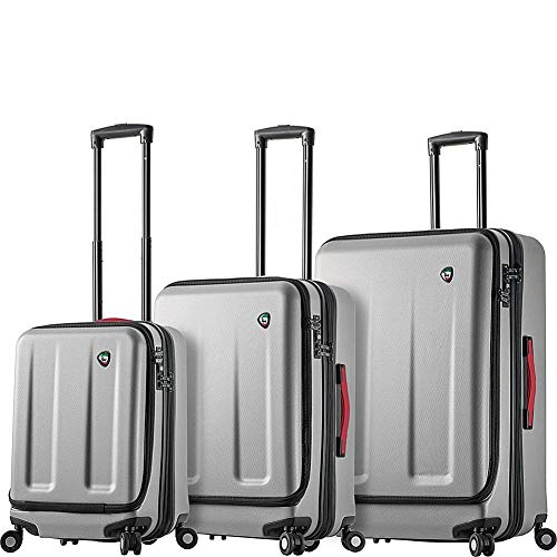 Mia Toro Italy Esotico Hardside Spinner Luggage 3 Piece Set, White