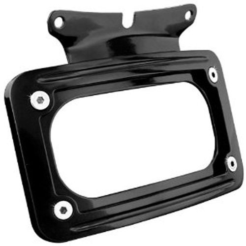 Kuryakyn 3149 Black Curved License Plate Mount (Curved License Frame Kuryakyn Plate)