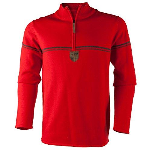 Obermeyer Mens Zurich 1/2 Zip Sweater (Red / (Obermeyer Red Sweater)