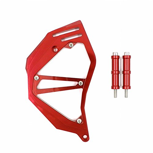 XX eCommerce Motorcycle Motorbike Billet Aluminum Front Chain Sprocket Cover For 2012-2013 Honda NC700 S X 12 13 (Red)