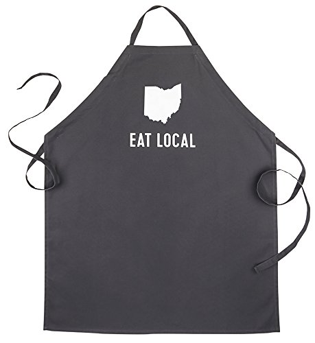 About Face Designs State of Mine-Ohio Apron, Black