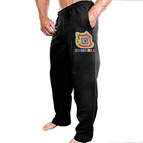 Ymagic Men's The Amazing World Sweatpants Color Black Size XXL