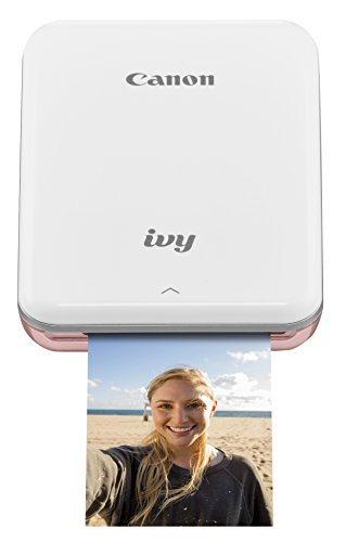 Canon IVY Wireless Bluetooth Mobile, Portable, Mini Photo Printer, Rose Gold