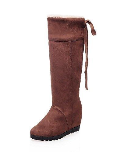 Brown Zapatos Eu42 us10 Uk8 Negro us6 Eu37 Moda 5 Cn43 Marrón Mujer Cuña Xzz Redonda Vestido 5 Botas La Punta A 7 Beige Beige U Cuñas Casual Tacón Cn37 5 5 De 5 Vellón Uk4 UxqBwWHBd1
